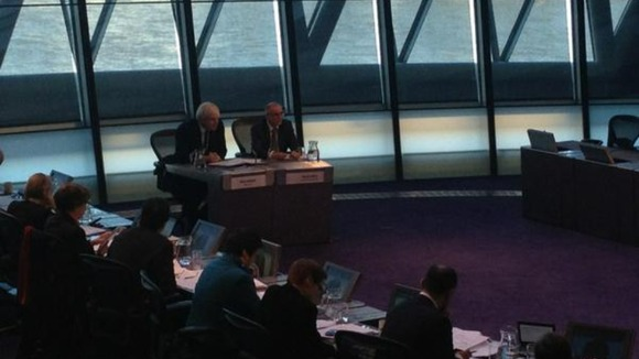 London Mayor Boris Johnson at London Assembly.