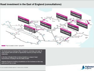 Highways England consultation map.