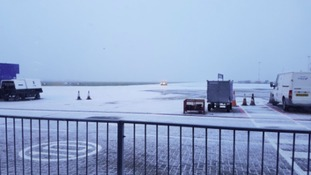 A passenger's view of Norwich Airport this morning.