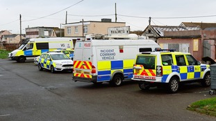 Police are out in force in Jaywick.