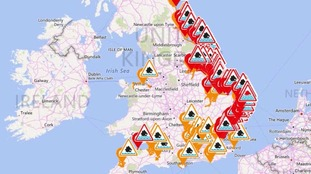 Coastal regions across the east of Scotland and England are braced for heavy flooding.