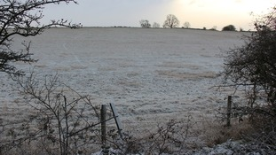 A winters morning on Cleeve Common.