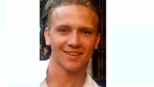 Corrie McKeague, who went missing on a night out in Bury St Edmunds.