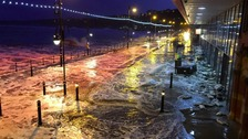 The tidal surge breached flood defences in Scarborough