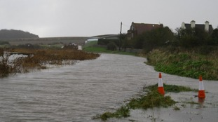 The coast road at Cley in Norfolk