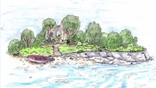 Artist's impression of the garden