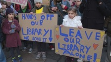 Hundreds protest against Bath library move