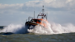 A RNLI lifeboat (not pictured) was scrambled to assist the rescue