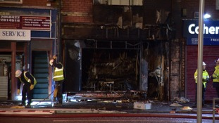 "Cafe owner burnt but ""very lucky"" after explosion and fire"