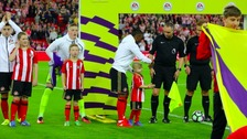 Bradley Lowery at Sunderland's game with Everton last September.