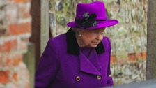The Queen braved the rain to attend church in Norfolk