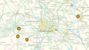 This map from the Forestry Commission website shows the affected areas