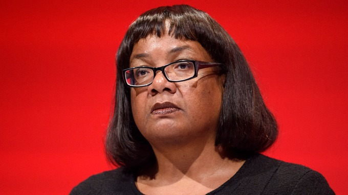 Diane Abbott has urged people to protest against Donald Trump.