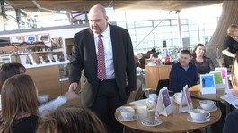 Local Government Minister Carl Sargeant meets campaigners at the Senedd