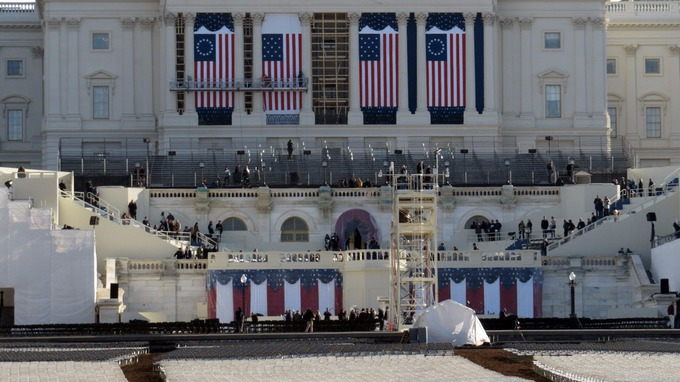 Preparations are underway ahead of Donald Trump's inauguration in Washington.