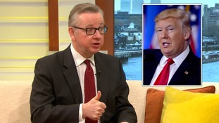 Michael Gove re-enacted the thumbs up photo he shared with Donald Trump after his interview.
