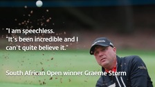 Hartlepool golfer Graeme Storm who won the South African Open