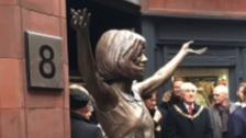 Cila statue unveiled at Liverpool's Famous Cavern Club