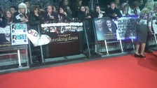 On the red carpet at the premiere of The Twilight Saga: Breaking Dawn Part 2.