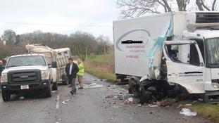 Men cut free from wreckage in Kirkcudbright crash