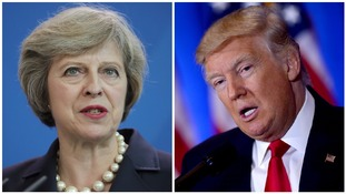"Theresa May's spokeswoman praised the ""enthusiasm"" of the president-elect to work with the UK."