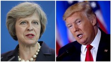 May welcomes Trump's promise of quick post-Brexit trade deal