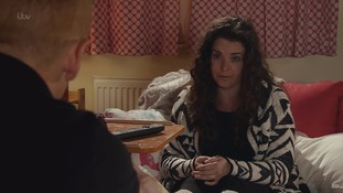 A shot of Izzy acting in Coronation Street