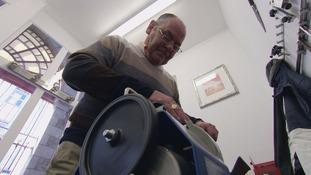 Alan Jarrett working in his workshop