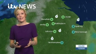 East Midlands Weather: Becoming mainly dry by midnight