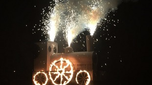 Money raised at Carlisle's 2016 Fireshow will be presented to the Rotary Club