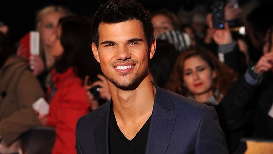 Taylor Lautner arriving for the premiere of The Twilight Saga: Breaking Dawn Part 2 at the Empire and Odeon Leicester Square,