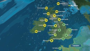 Weather: Cloudy with patchy rain or drizzle
