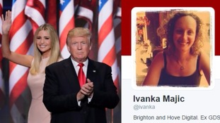 Donald Trump mistakenly tweets high praise for Ivanka from Brighton