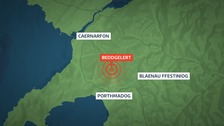 Parts of north Wales hit by an earthquake on Sunday
