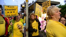 The downgrading of A and E services caused sustained protest