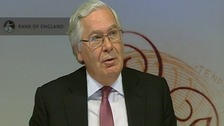 The Governor of the Bank of England, Sir Mervyn King