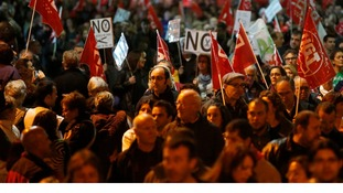 Protesters across Europe demand end to austerity