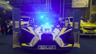 Police use 'Batmobile' style car to promote road safety