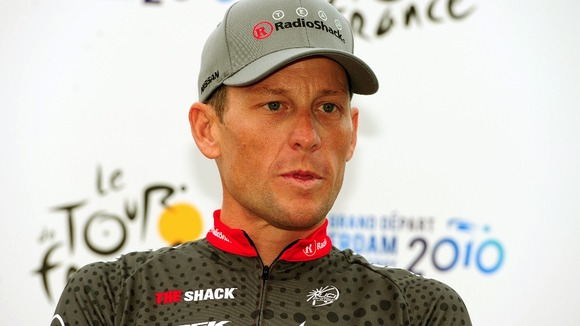 Lance Armstrong pictured in 2010