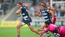 Sale's Tom Arscott (carrying the ball) is accused of leaking team information to Bristol Rugby