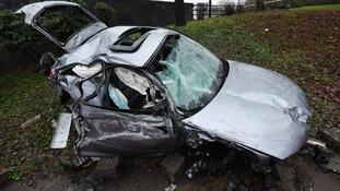 Driver has astonishing escape after car falls 30 feet