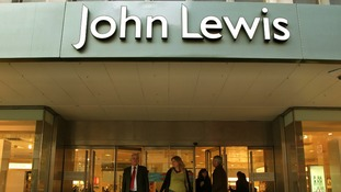 Shoppers at the flagship Oxford Street John Lewis store