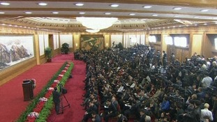 Chinese and international media await the unveiling of the new leader of the Communist Party in Beijing