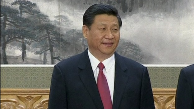 Xi Jinping as he is announced as the new general secretary