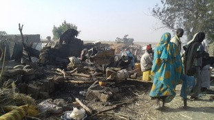 Nigeria military jet mistakenly bombs refugee camp killing at least 52
