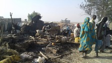 Nigeria military jet mistakenly bombs refugee camp killing 53