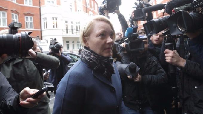Swedish prosecutor Ingrid Isgren arrives at the Ecuadorian embassy in London last November.