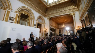 The Prime Minister delivering her speech at Lancaster House on Tuesday.