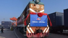 China's first direct freight train to UK set to arrive