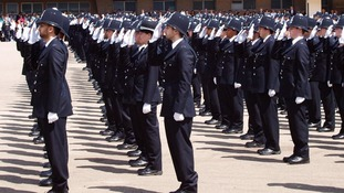 Graduates during the passing out ceremony for the newly graduated police officers
